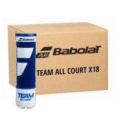 Carton 18 tubes de 4 Balles Babolat Team All Court