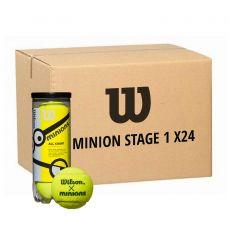 Carton 24 tubes de 3 balles Wilson Minions Stage 1