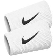 Wristbands Nike Double Wide Team Black / White x 2