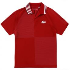 Lacoste Sport Checkered Red Polo