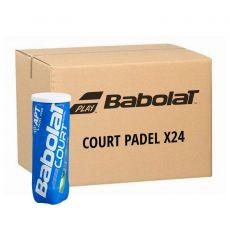 Box 24 cans of 3 Babolat Padel+ balls