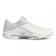 Asics Gel Solution Speed 3 White Silver Women