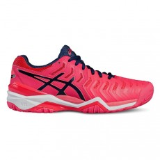 Chaussure Asics Gel Resolution 7 Women Pink Blue