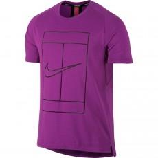 T Shirt Nike Court Dry Pourpre Été 2017
