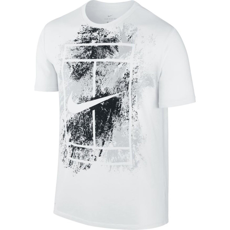 T Shirt Nike Court Logo Dry Blanc Été 2017