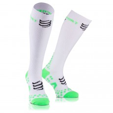 Chaussettes Compressport Racket Full Socks Recovery Blanches