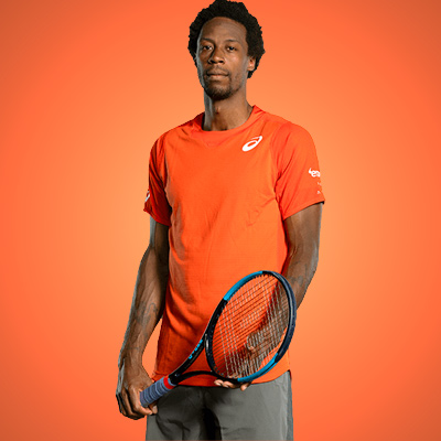 All equipment of Gael Monfils ! racquet Polo Short shoes