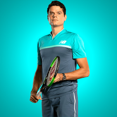 All equipment of Milos Raonic!