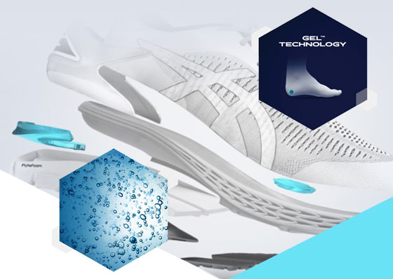 sketch of the gel technology of Asics