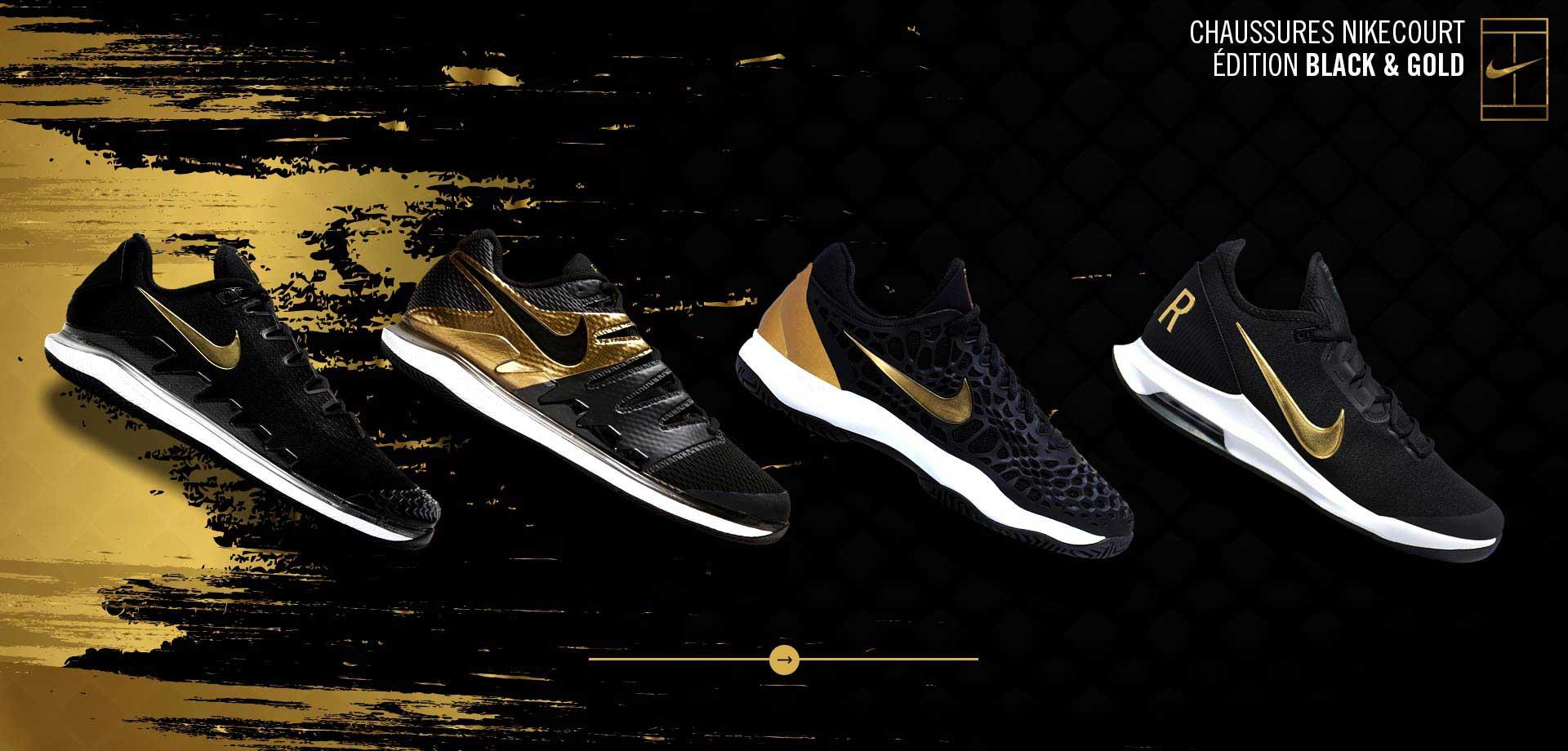 Chaussures Nike édition Noir et Or