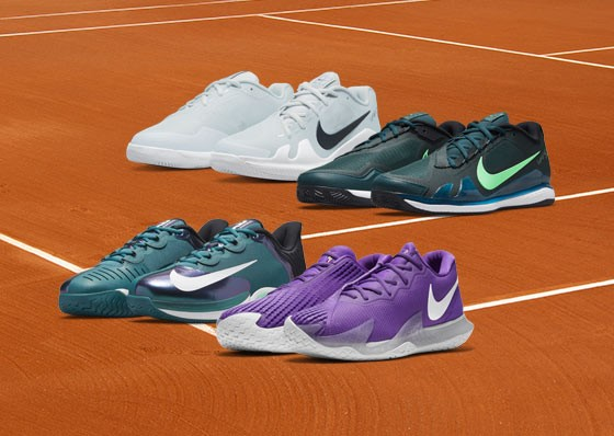 Different pairs of Nike tennis shoes