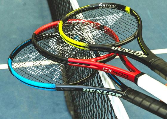 The Dunlop CX FX and SX racket ranges