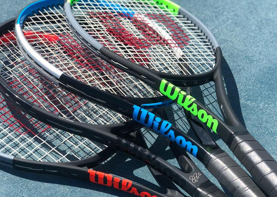 tennis rackets of the different ranges of the Wilson brand